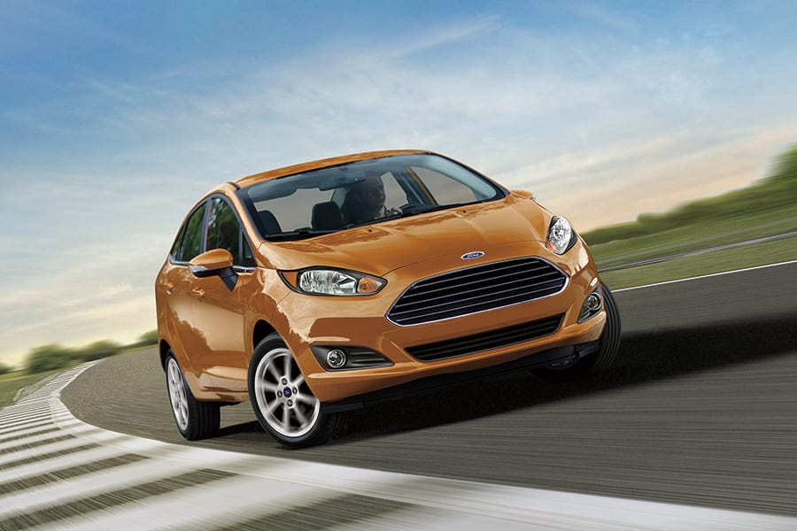 Orange coloured Ford Fiesta