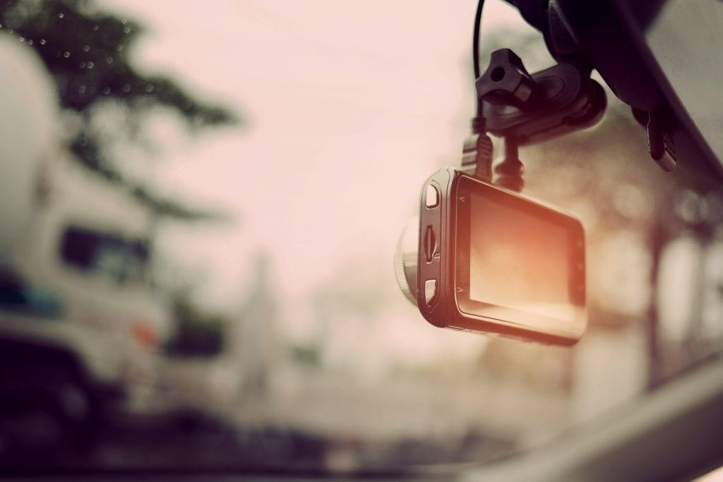 dashcam in front windscreen
