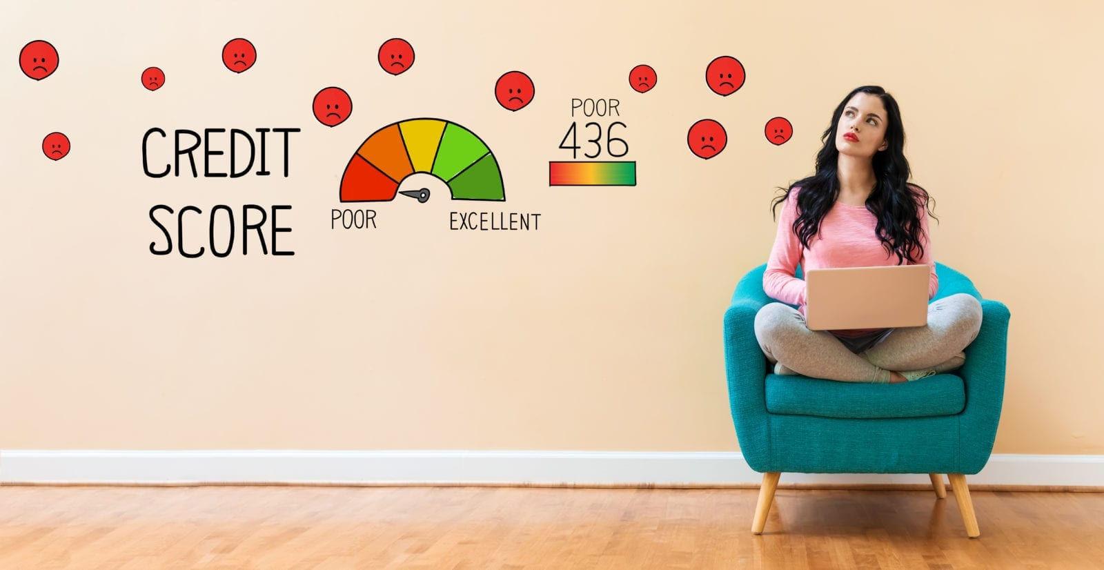bad credit score image | refused car finance