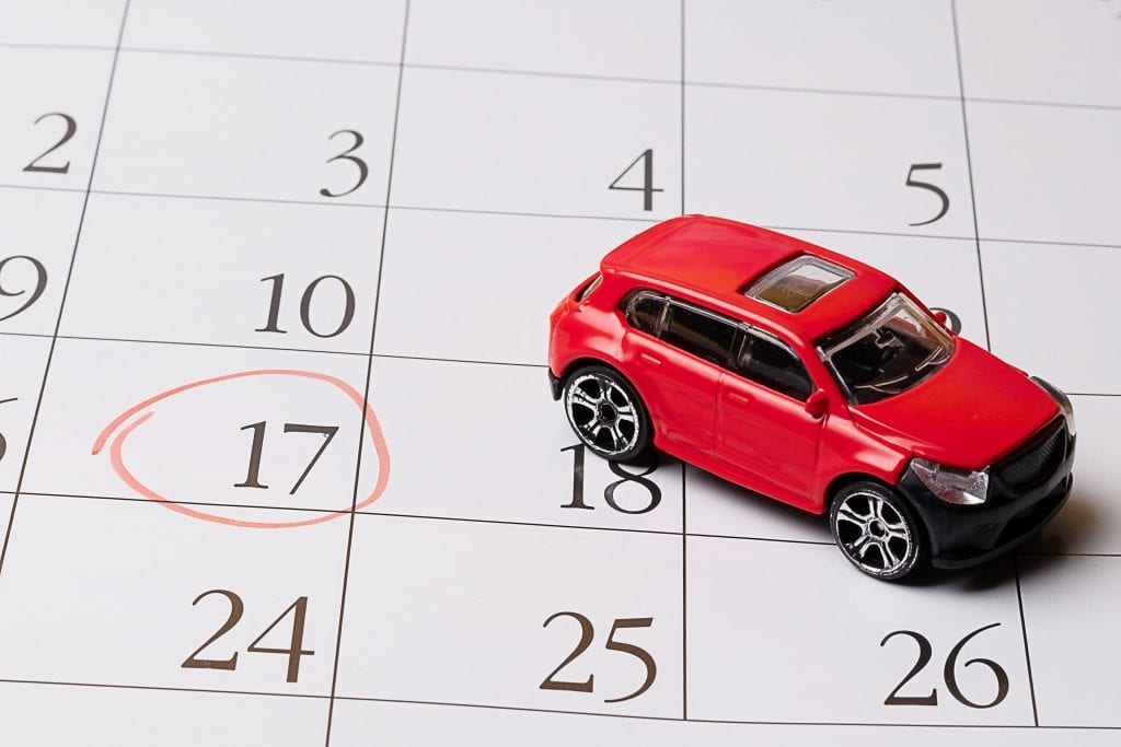 car finance payments date