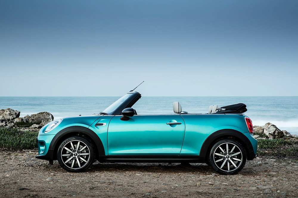 Ice Blue Mini Convertible