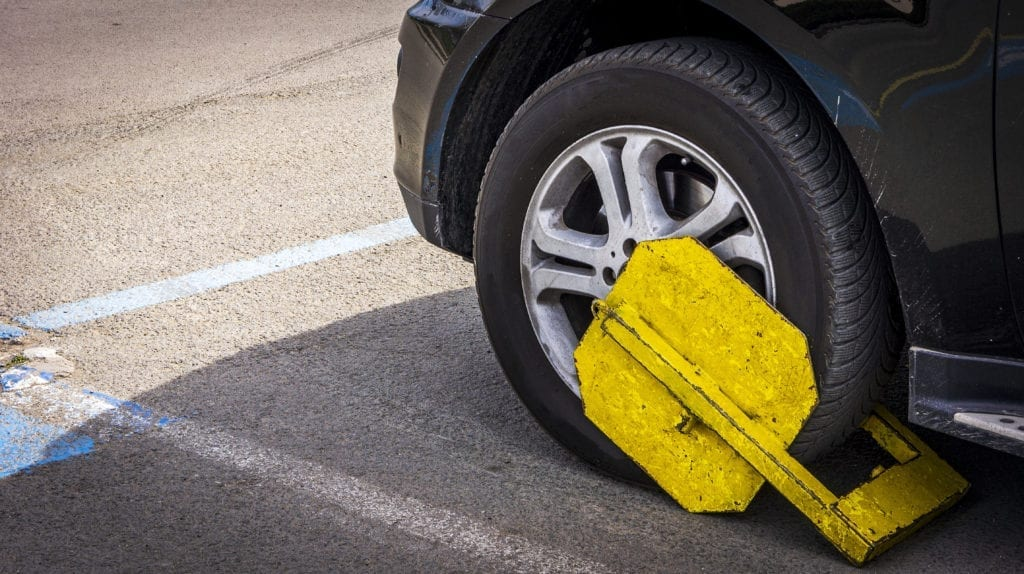 Clamped for illegal driving