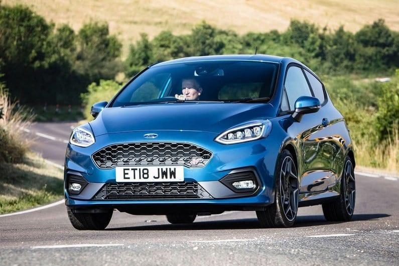 New 2018 Blue Ford Fiesta ST