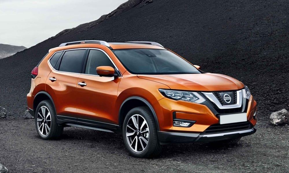 Orange Nissan X-Trail