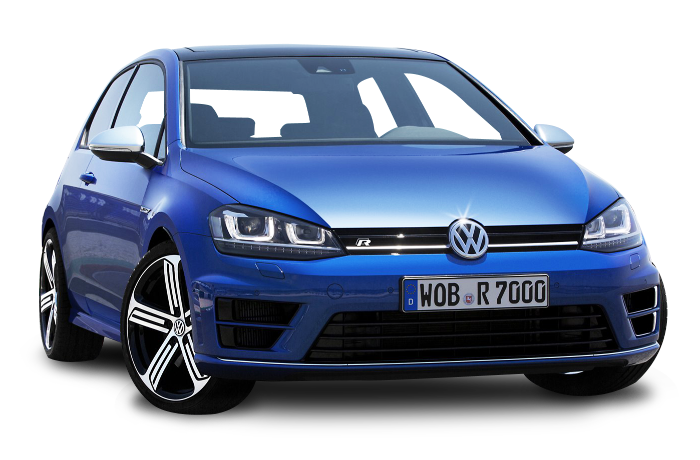 Electric Blue Volkswagen Golf