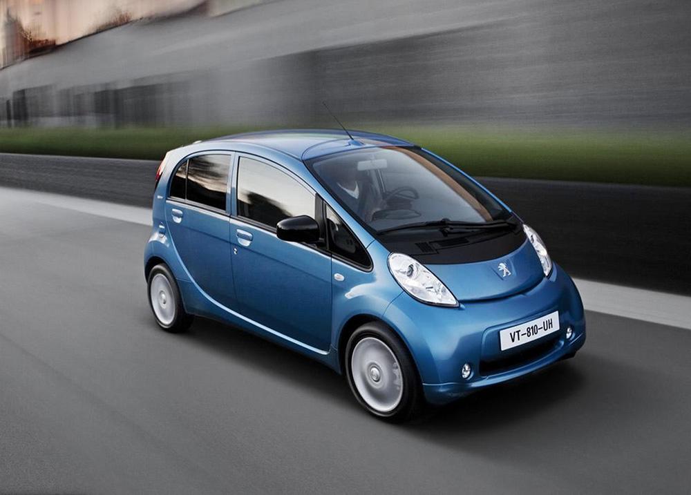 Blue Peugeot iOn