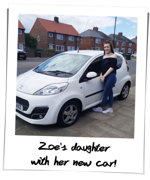 Zoe who bought her car with Refused Car Finance