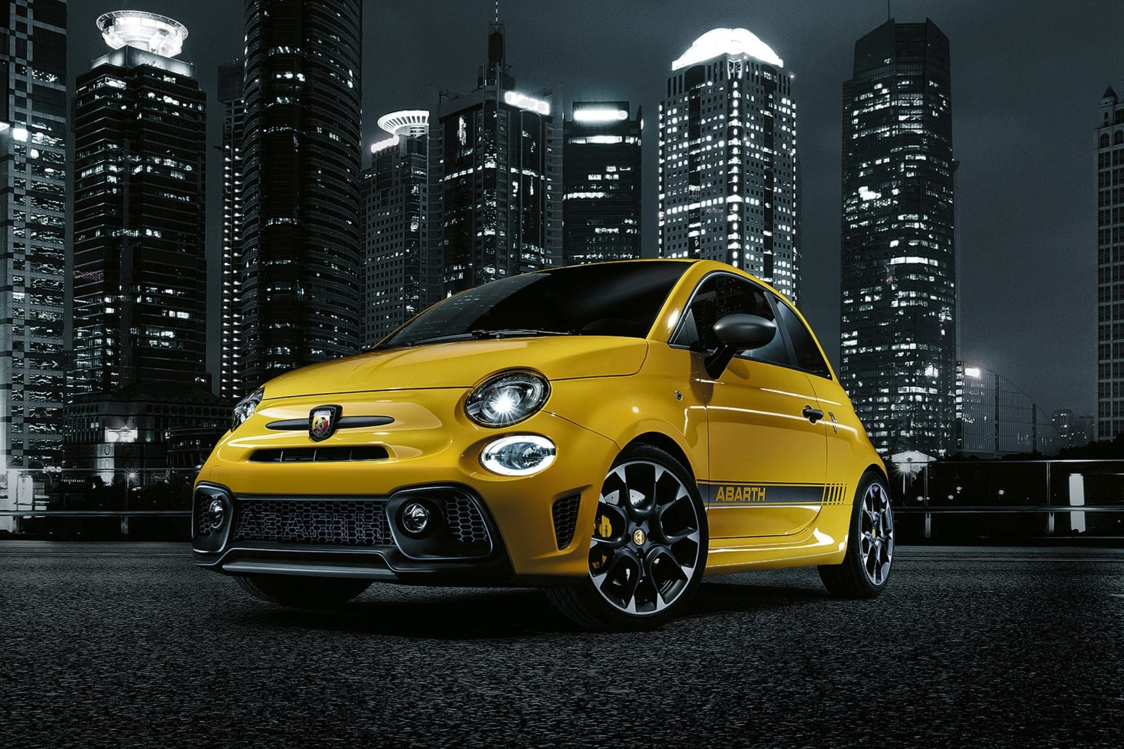 Yellow Abarth