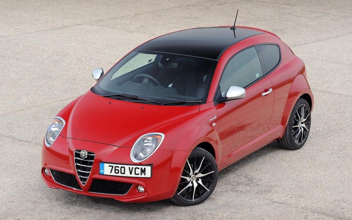 Red Alfa Romeo Mito