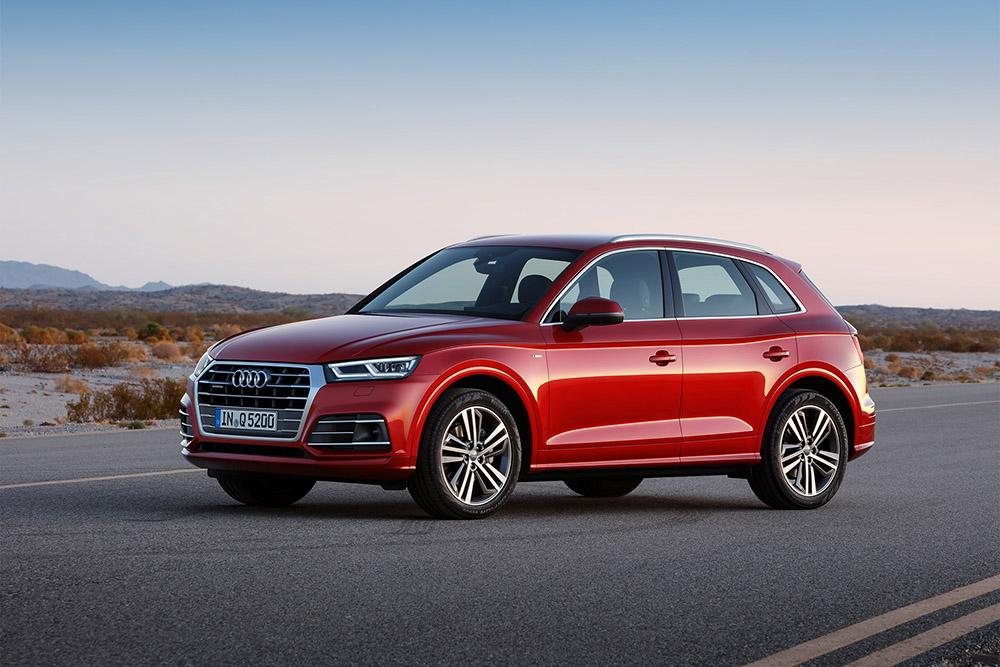 Orange Audi Q5 2018