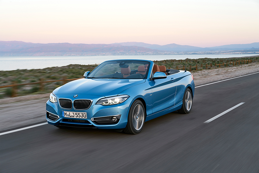 Blue BMW 2 Series Convertible