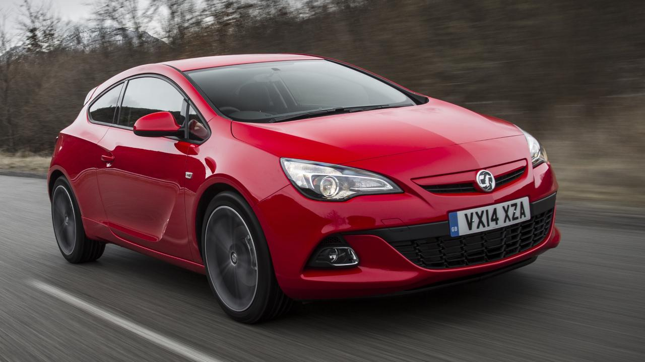 Red Vauxhall Astra GTC