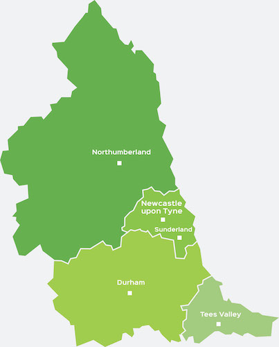 map of car finance north east