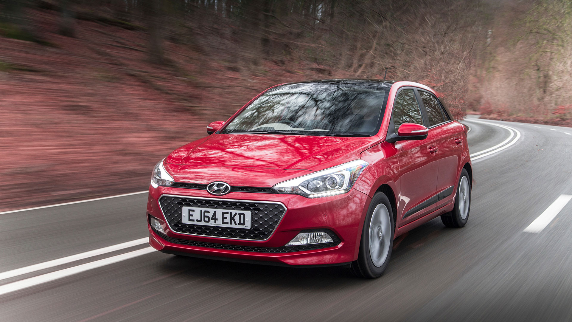 Red Hyundai i20