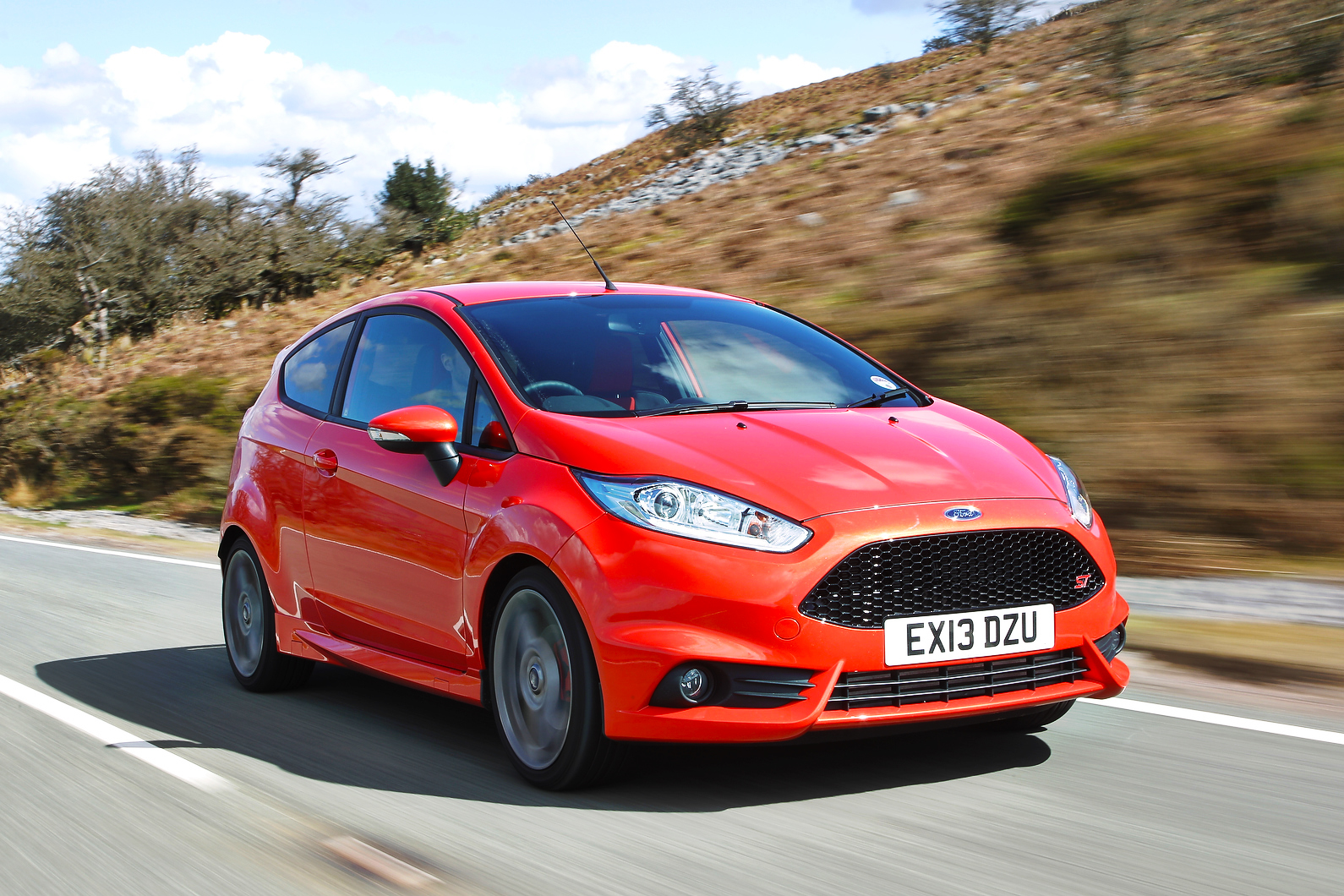 Red Ford Fiesta ST 2017