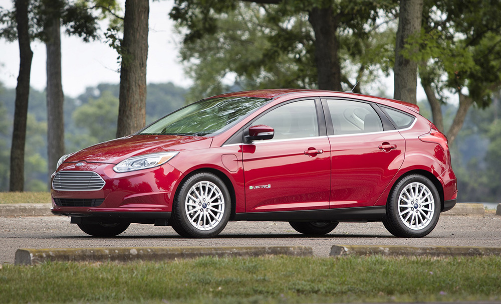 Red Ford Focus Electric