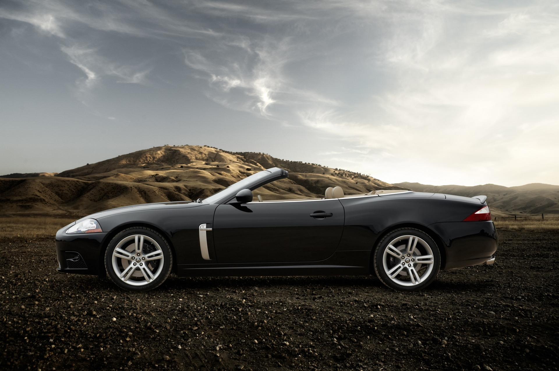 Black Jaguar XK Convertible