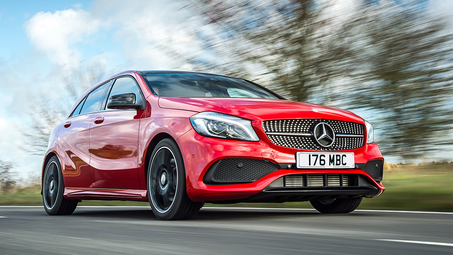 Red Mercedes Benz A-Class