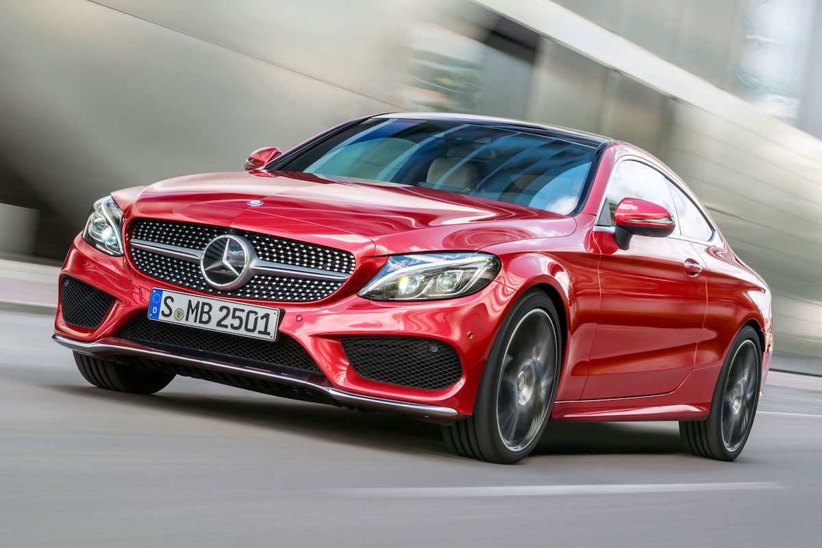 Red Mercedes Benz A Class 2017