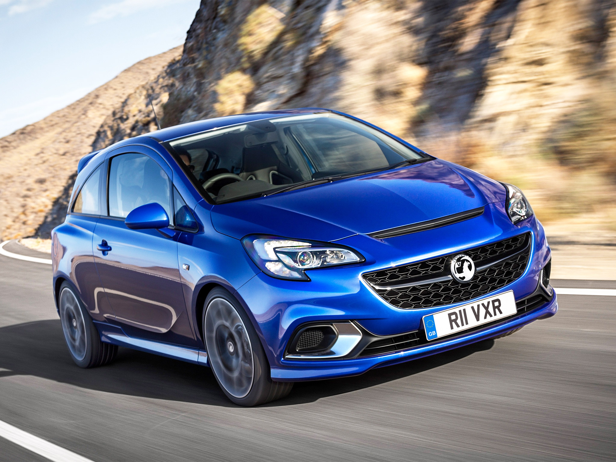Vauxhall Corsa VXR in electric blue