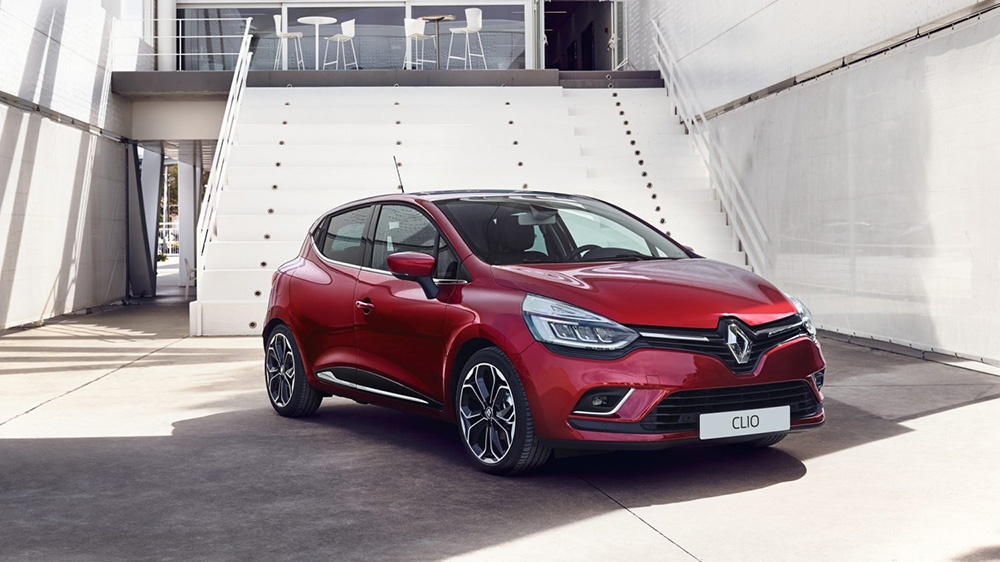 Renault Clio in red
