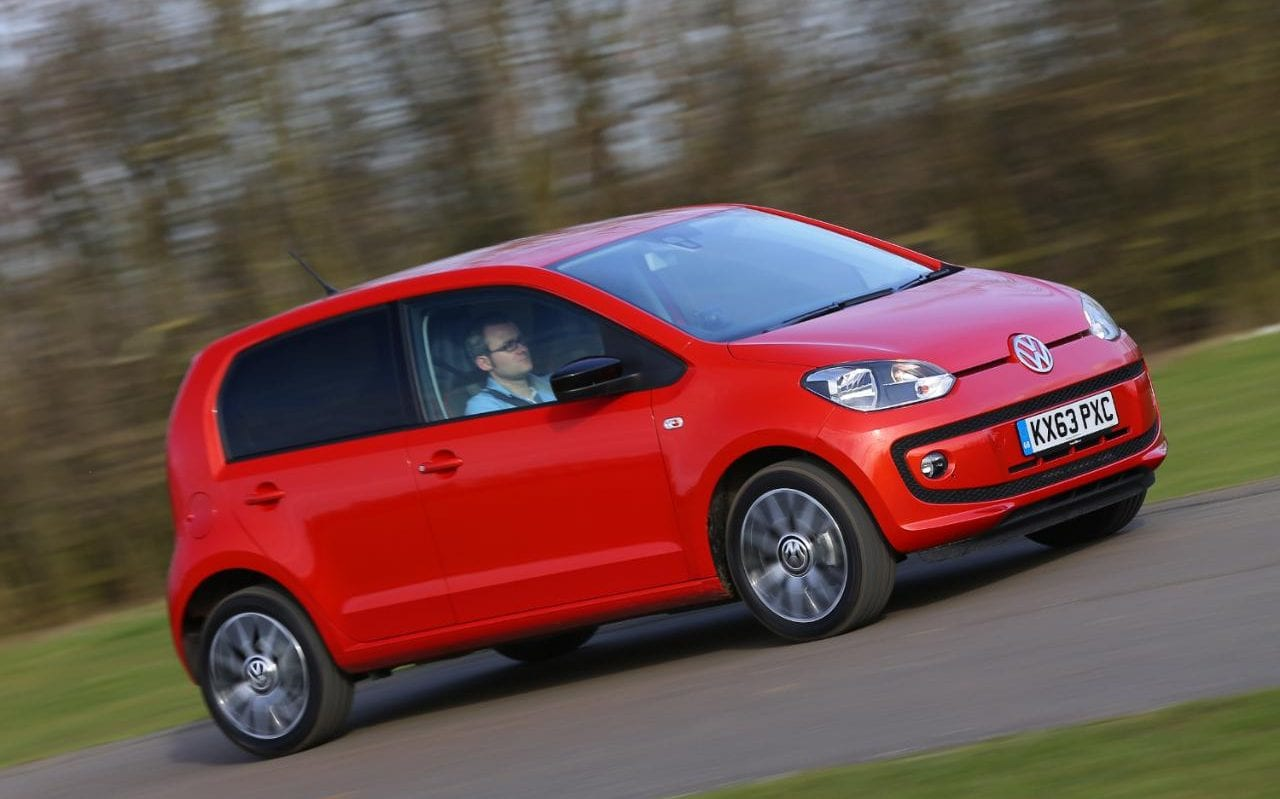 Red Volkswagen Up