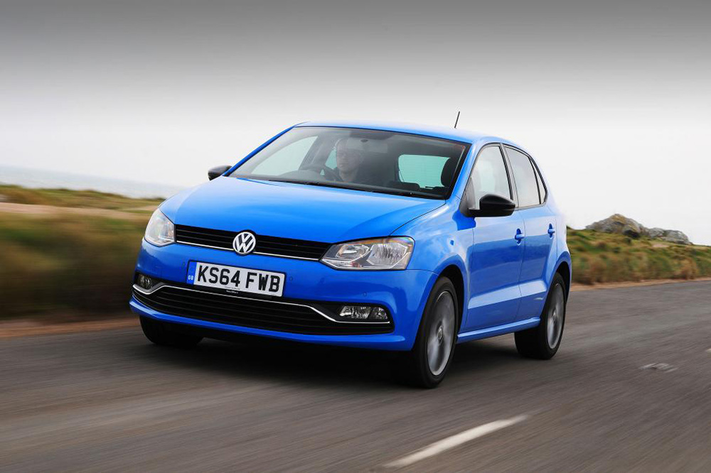 Blue VW Polo
