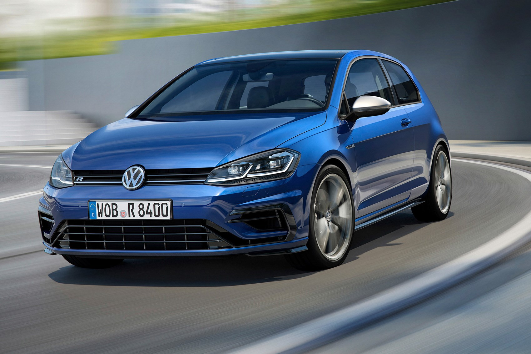 VW Golf in Blue