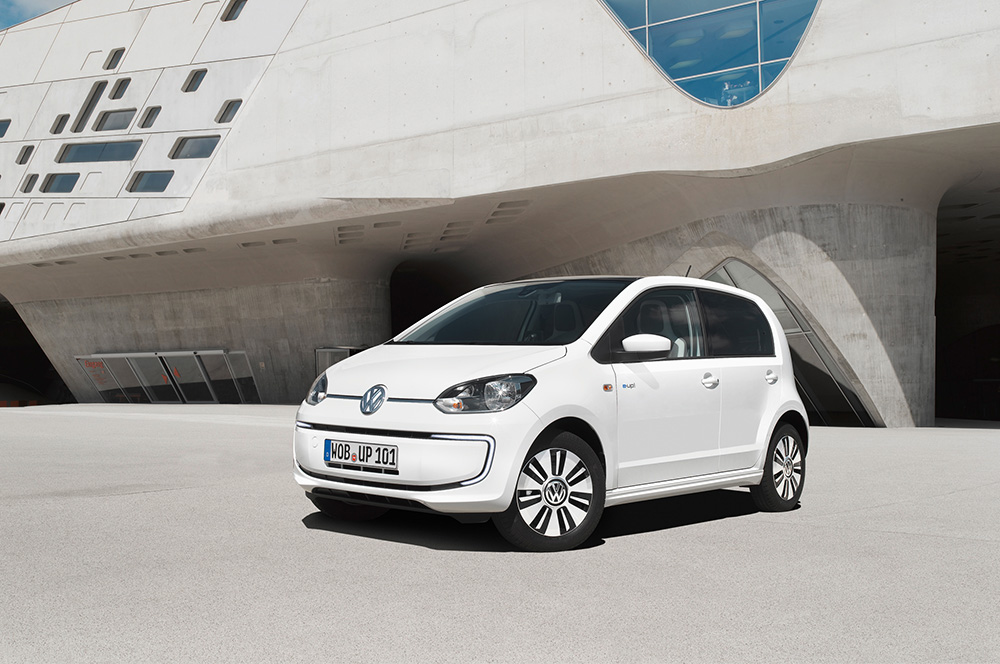 White VW e-Up!