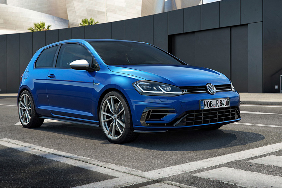 Blue Volkswagen Golf on finance